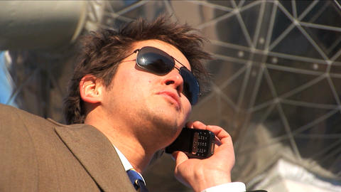 Close up businessman on mobile Stock Video Footage