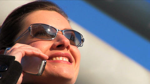Close up shot businesswoman on phone Stock Video Footage