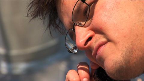Close up businessman on laptop Stock Video Footage