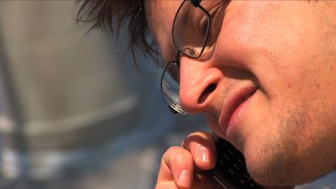 Close up businessman on laptop Footage