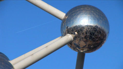 Close shot of Brussels Atomium Footage