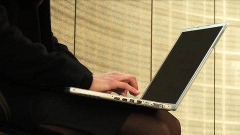 Businesswoman on laptop Stock Video Footage