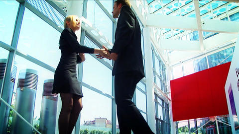 Business conference couple meeting Footage