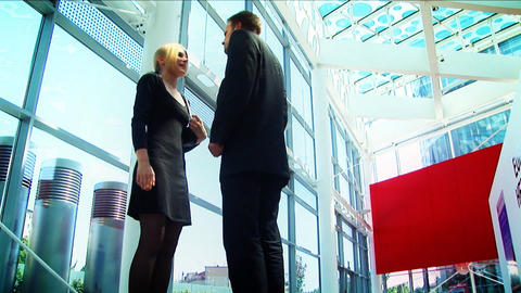 Business conference couple meeting Stock Video Footage
