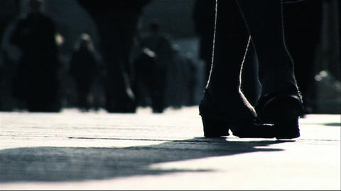 Business people walking to the office Stock Video Footage