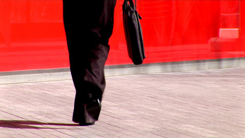 Successful businesswoman walking to work Stock Video Footage