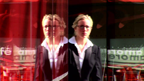 Attractive businesswoman walking to work Stock Video Footage