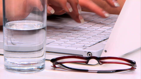 Businesswoman working on the PC at the office Stock Video Footage