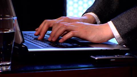Businesswoman on laptop Stock Video Footage