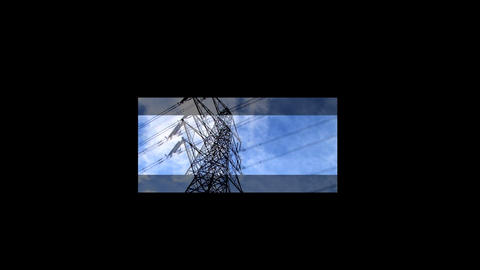 Collection of clean energy images in a motion montage Filmmaterial