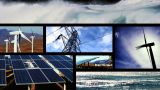 Collection Of Clean Energy Images In A Motion Montage stock footage