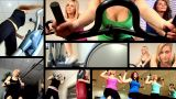 Collection Of Attractive Girl Working Out At The Gym stock footage