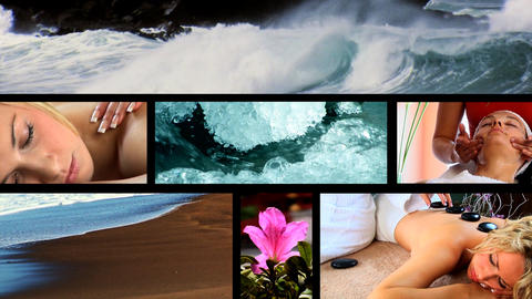 Collection of health & beauty spa images Footage