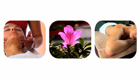 Collection of pure natural beauty spa images Footage