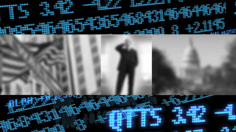 Collection of blurred images of business with motion... Stock Video Footage
