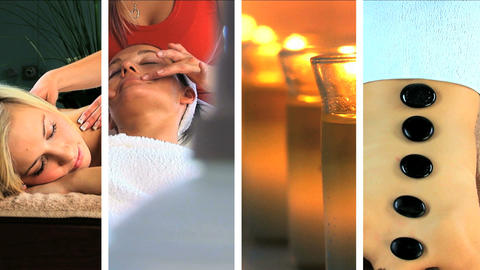 Collection of pure natural beauty spa images Stock Video Footage