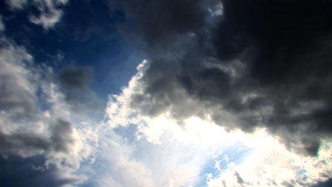 Stormy skies time lapse clouds looping Footage