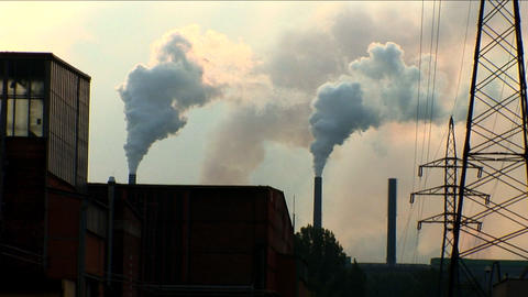 Industrial pollution with heavy steel industry Footage