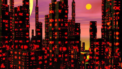 Futuristic city - 3D render Stock Video Footage