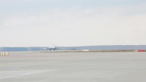 Airplane landing Stock Video Footage