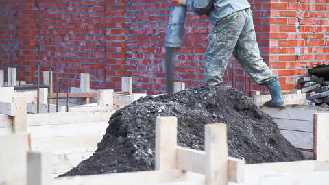 Concrete pouring sequence Stock Video Footage