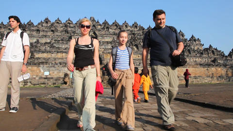 Borobudur temple Footage