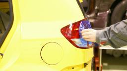 Car's lantern installation Stock Video Footage