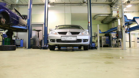 Car repair shop Stock Video Footage