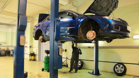 Car repair shop timelapse Footage