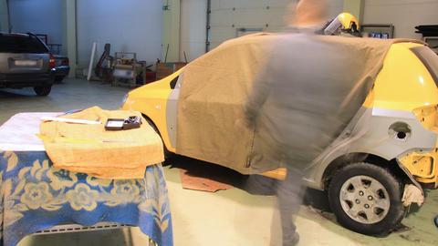 Car repair shop timelapse Footage