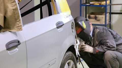 Car welding 5499 HD Stock Video Footage
