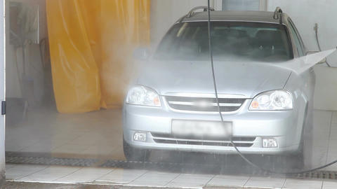 Man washing a car Stock Video Footage