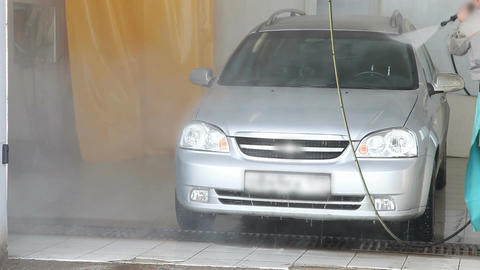 Man washing a car Footage