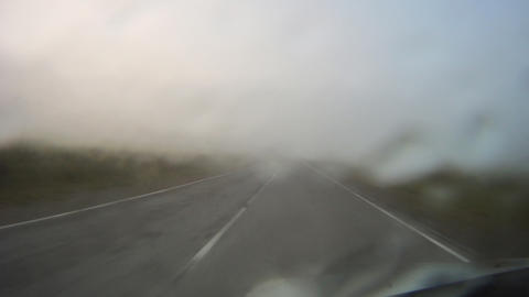 Mountain road in Russian Altai timelapse Stock Video Footage