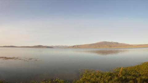 Time Lapse of sunset on Mountain Lake Dayan Nuur Stock Video Footage