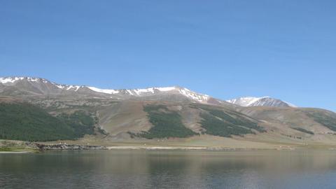 Mountain Lake Dayan Nuur Time Lapse Stock Video Footage