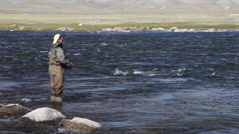 Fisherman Khoton 3723 HD Stock Video Footage