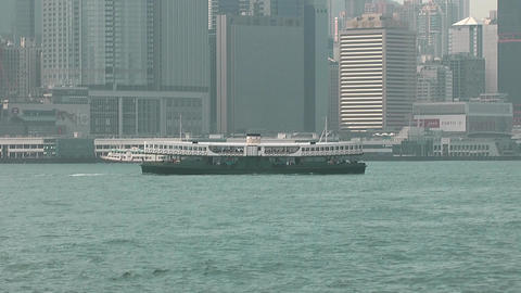 Hong Kong harbor 0939 HD Stock Video Footage