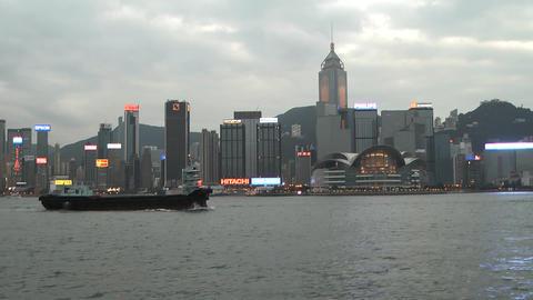 Hong Kong harbor edit 0115 HD Stock Video Footage