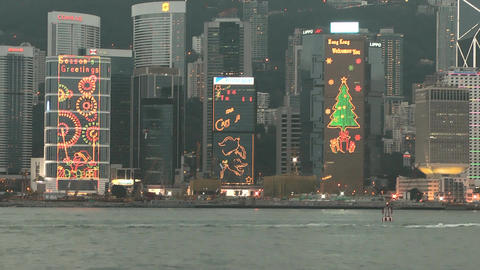 Hong Kong harbor edit 0120 HD Footage