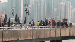 Hong Kong harbor edit 0942 HD Stock Video Footage