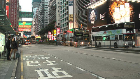Hong Kong Natan road edit 0108 HD Stock Video Footage