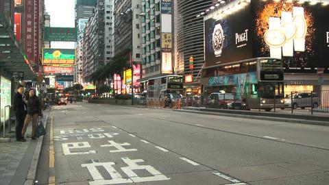 Hong Kong Natan road edit 0108 HD Stock Video Footage