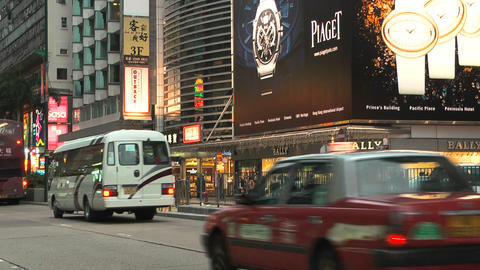Hong Kong Natan road edit 0111 HD Stock Video Footage