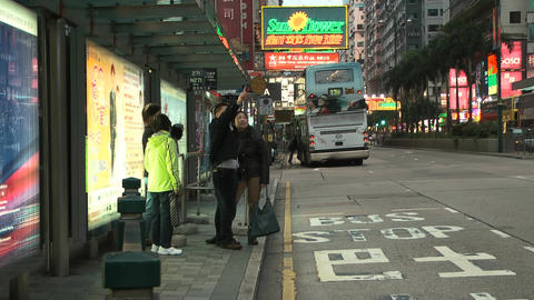 Hong Kong Natan road edit 0113 HD Stock Video Footage