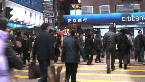 Hong Kong Natan road edit 0915 HD Stock Video Footage