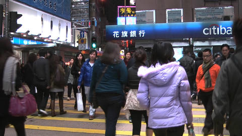 Hong Kong Natan road edit 0915 HD Stock Video Footage