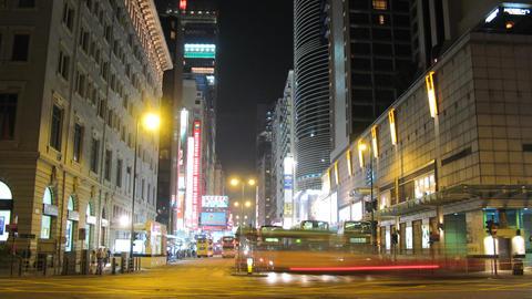Hong Kong Natan road tl 01 HD Stock Video Footage