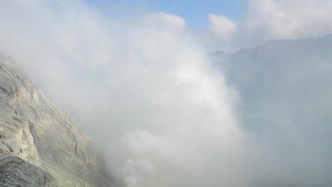 Crater Ijen Volcano timelapse Stock Video Footage