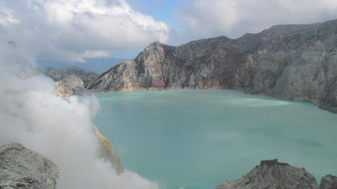 Crater Ijen Volcano timelapse Stock Video Footage